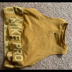 NIKE yellow crop top